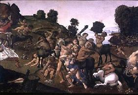 di Cosimo, Piero : The Fight Between the Lapi...