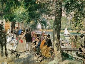 Bathing in the Seine or La Grenouillere c.1869