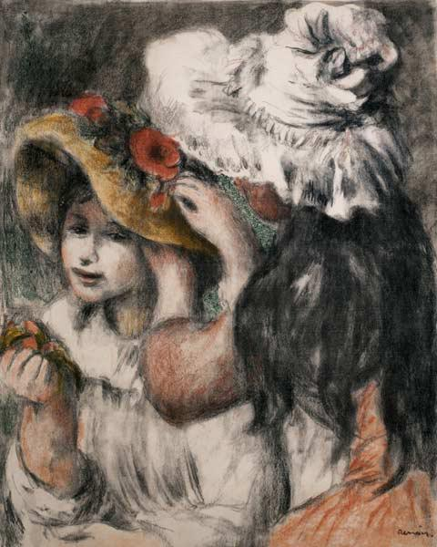 The Pinned Hat (Berthe Morisot's daughter and her cousins)