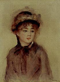 Young woman with hat.