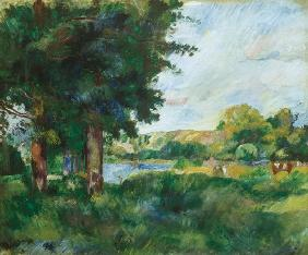 Landscape in the Ile-de-France, or Landscape with Large Trees