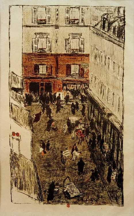 Coin de rue, vue d'en haut - Pierre Bonnard as art print or hand