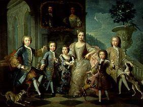 The family of the duke of Valentinois.