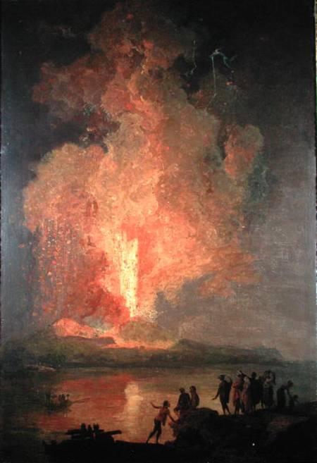 Mount Vesuvius Erupting Pierre Jacques Volaire As Art