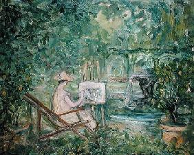 Woman Painting in a Landscape