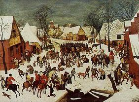 Brueghel the Elder, Pieter : The bethlehemitische child...