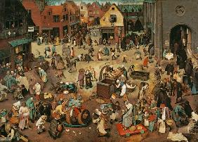 Brueghel the Elder, Pieter : Carnival and Lent