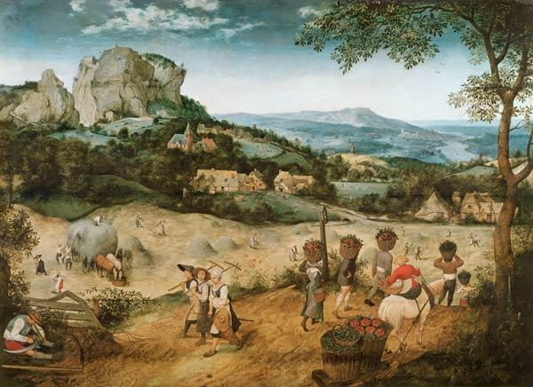 Brueghel the Elder, Pieter : The hay harvest