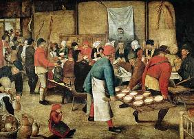 Brueghel the Younger, Pieter : The Wedding Supper