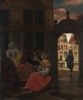 A Musical Party in a Courtyard 1677