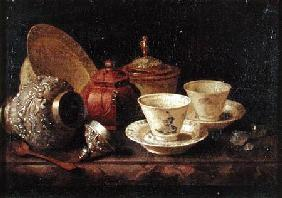 Still Life with Tea Cups