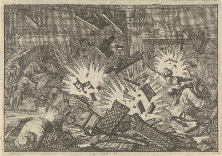 The Siege of Riga by the Russian Army under Tsar Alexei Mikhailovich in 1656 - Pieter van der Aa