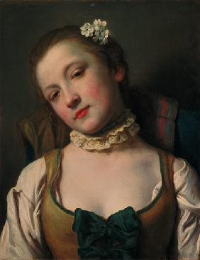 Girl with a white ruff