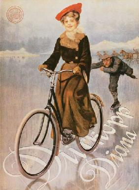 Ad for the ladies' bicycle Diana, company Dürkopp