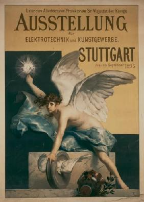 Advertising art : Exhibition poster electric...
