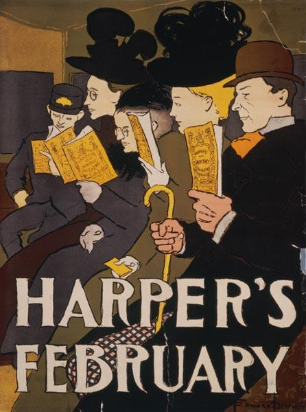 Advertising art : Harper of February of Edwa...