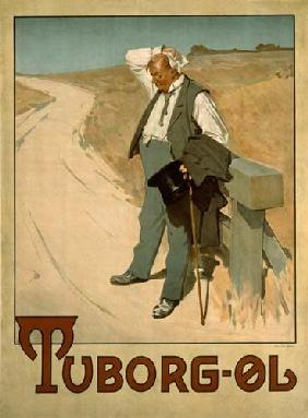 Advertising board for Tuborg beer, 1900 of Erich Henningsen