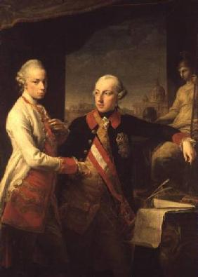 Kaiser Joseph II (1741-90), and the Grand Duke Leopold of Tuscany, 1769
