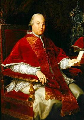 Pope Pius VI (1717-99) c.1775-76 (oil on canvas)