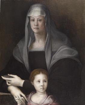 Portrait of Maria Salviati with Giulia de' Medici