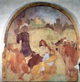 Christ in the Garden, lunette from the fresco cycle of the Passion