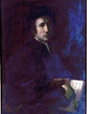 Portrait of the Musician Francesco dell'Ajolle