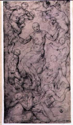 Study for 'Christ in Glory' and 'The Creation of Eve' in the Church of San Lorenzo, Florence