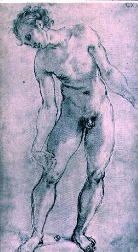 Study of a male figure for the 'Deposition' altarpiece in the Capella Capponi, Santa Felicita, Flore