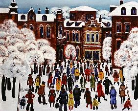 Winter Day in the City, 1975 (oil on canvas)
