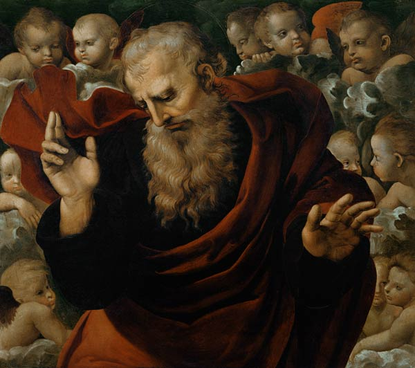 Image: (Raphael) Raffaello Santi - God the Father Blessing dans immagini sacre God-the-Father-Blessing