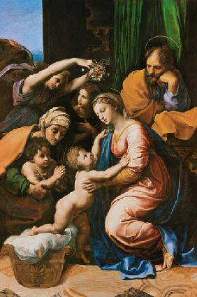 The Holy Family (the great Holy Family of Franz I.)
