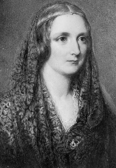 Mary Shelley, an idealised portrait crea - Reginald Easton as art print or hand painted oil.