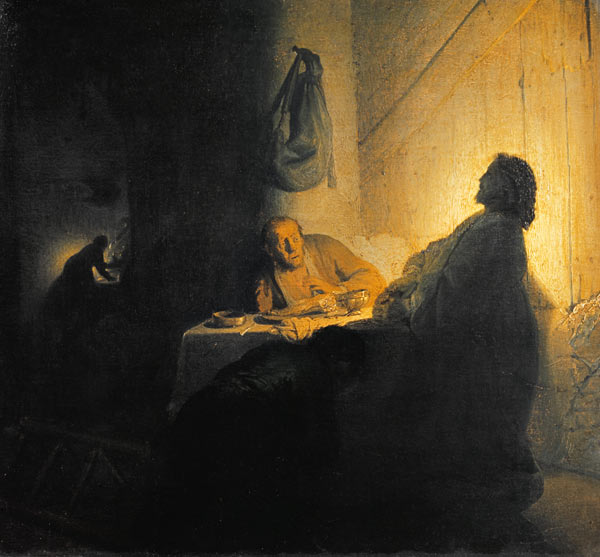 Christ At Emmaus Risen From The Dead Rembrandt
