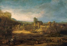 Rembrandt / Landscape with Drawbridge