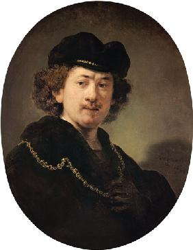 Self-portrait with the golden chain