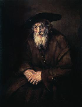 Portrait of an old Jew