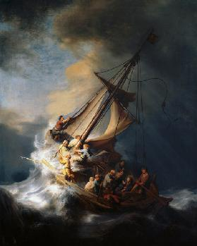 Christ in the storm on the lake Genezareth