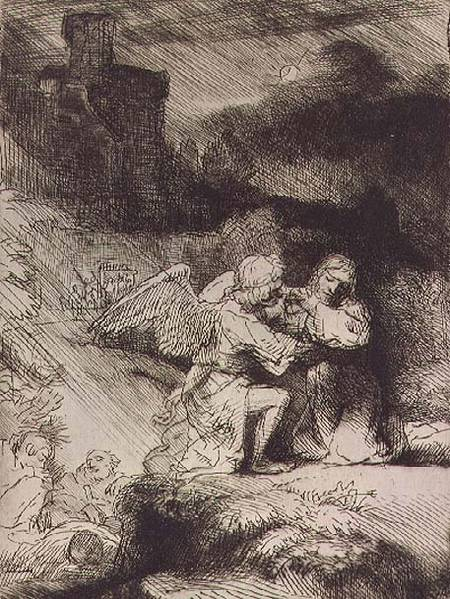 The Agony In The Garden Rembrandt Hamerszoon Van Rij As
