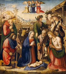 Ghirlandaio, Ridolfo : Adoration of the shepherds