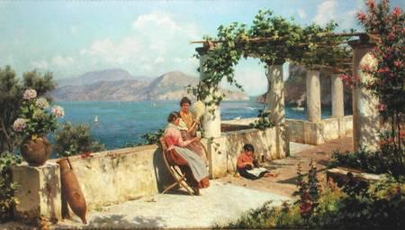 Alott, Robert : Figures on a Terrace in Ca...