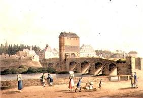 Entrance into Hanau over the Kinzig Bridge, from 'An Illustrated Record of Important Events in the A