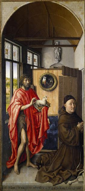 Saint John the Baptist and the Franciscan Heinrich von Werl
