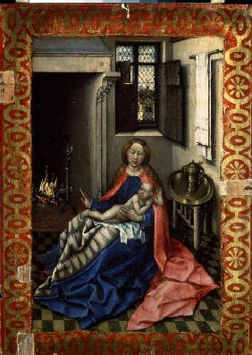 Madonna and Child before a Fireplace