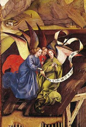 Nativity, detail of three angels