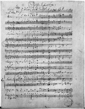 Ms.316, Three Lieder, Opus 65, Number 3, for male choir