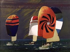 Spinnakers (oil on canvas)