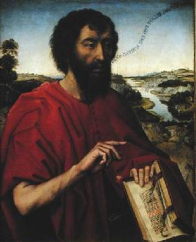 St. John the Baptist, left hand panel of the Triptych of the Braque Family