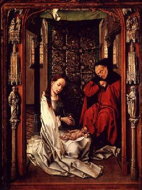 The Nativity, left wing of a triptych