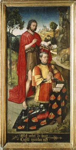 Left panel, from the main altar polyptych, depicting Michel de Changy