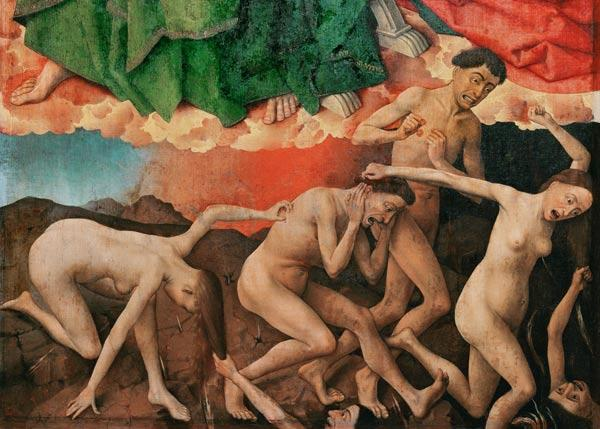 The Last Judgement, detail of the entrance of the damned into hell